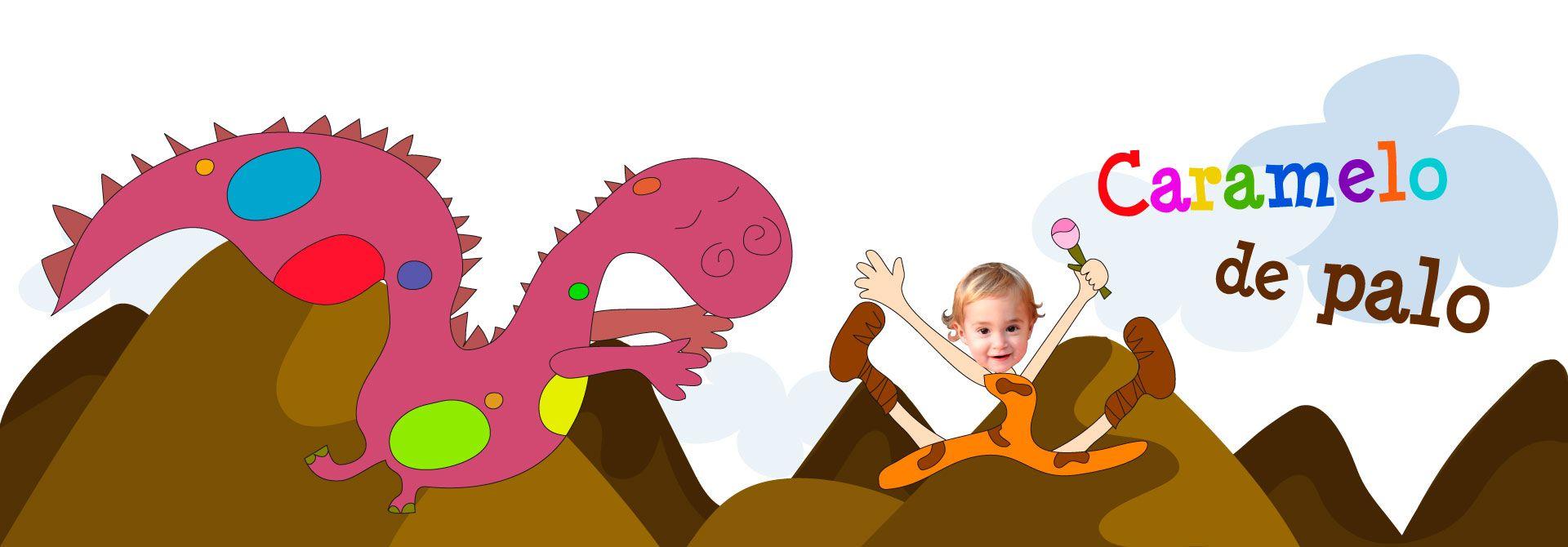 Cuento Caramelo de palo - Una historia de dinosaurios - Encabezado del producto