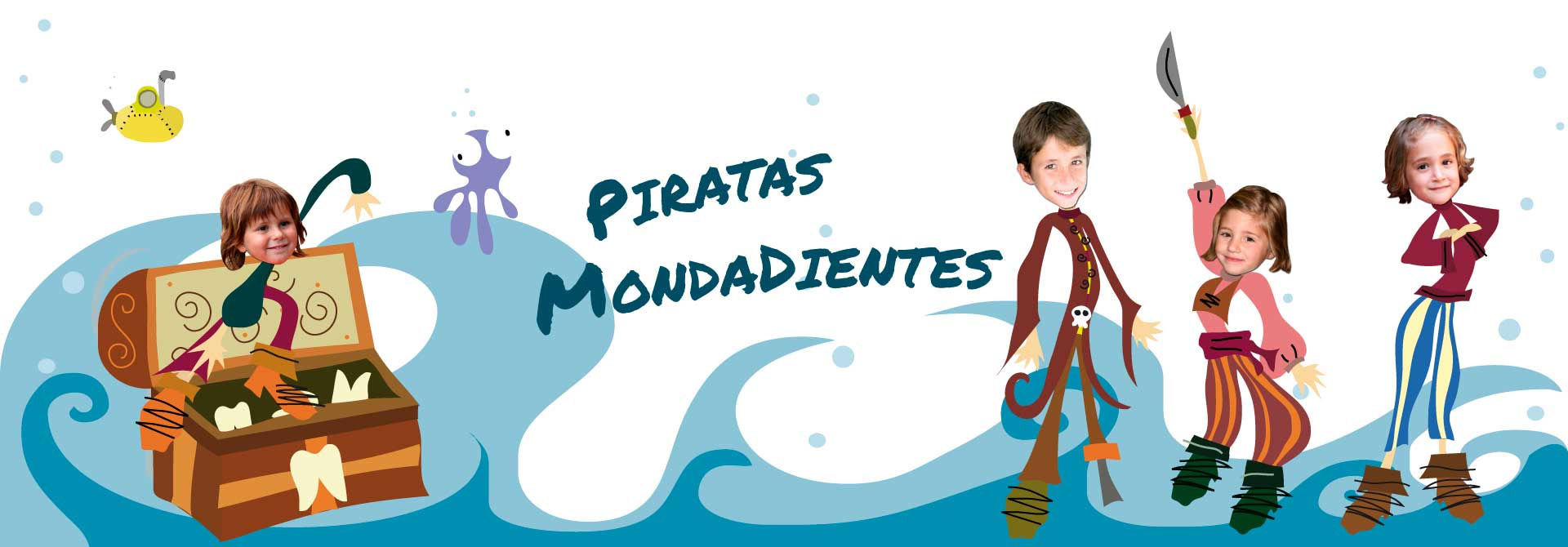 Libros personalizados para niños: Aventura pirata en pandilla - Encabezado del producto